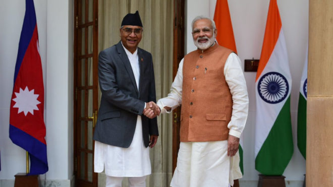 Narendra Modi receives Nepal PM Sher Bahadur Deuba in light of bilateral talks