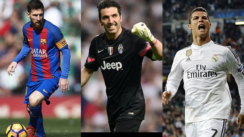 Finalists For UEFA Player Of The Year Revealed