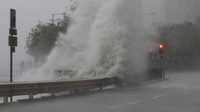 Thousands evacuated, schools closed after typhoon hits China