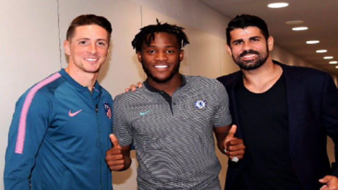 Chelsea striker Mitchy Batshuayi takes a dig at Diego Costa after Atletico win