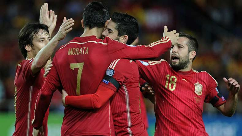 Football: Spain routs Leichtenstein 8-0 in World Cup qualifiers