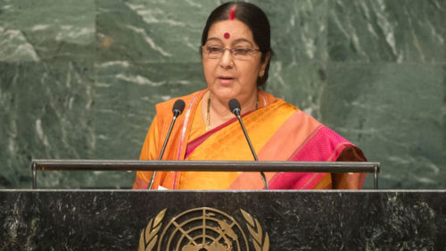 We are producing IITs, IIMs while Pakistan is creating terrorists: Sushma Swaraj at UNGA