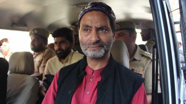 Yasin Malik arrested ahead of Separatists protest march to Delhi
