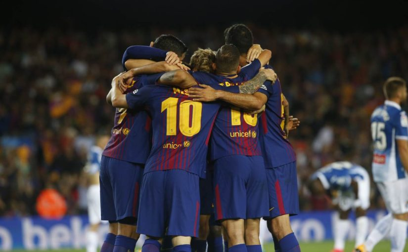 Lionel Messi hat trick puts Barcelona in La Liga lead