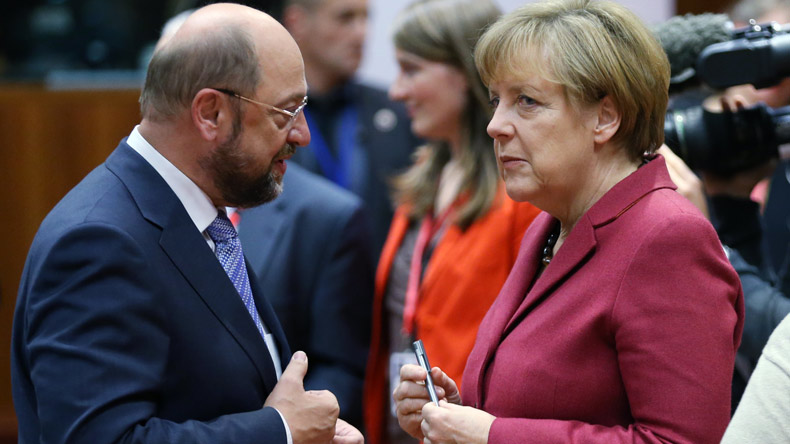 Angela Merkel rejects Martin Schulz's demand for second TV duel