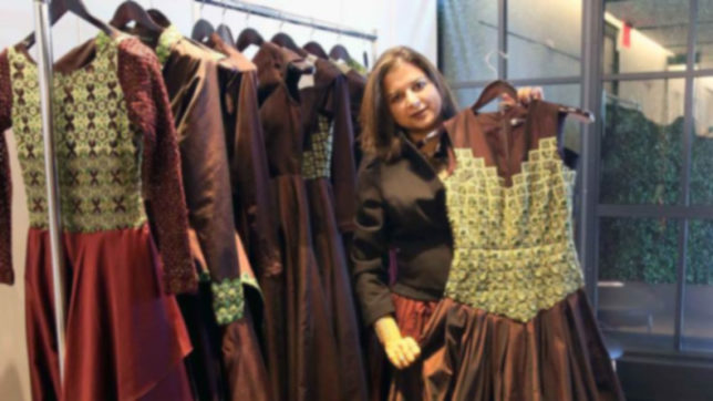 Breast cancer survivors turn showstopper for Indian designer at NYFW