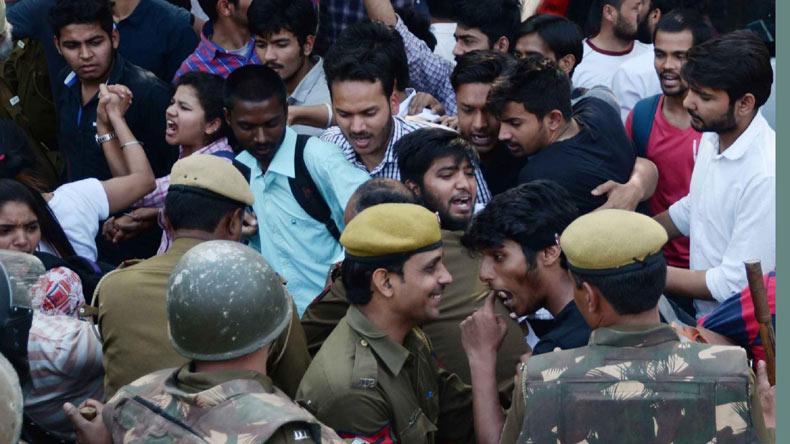 Received visuals of Ramjas incident, Delhi police tells court
