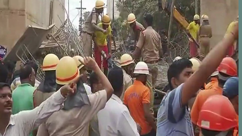 Bhubaneswar: Under-construction flyover collapses; 1 killed, 11 injured, 4 trapped