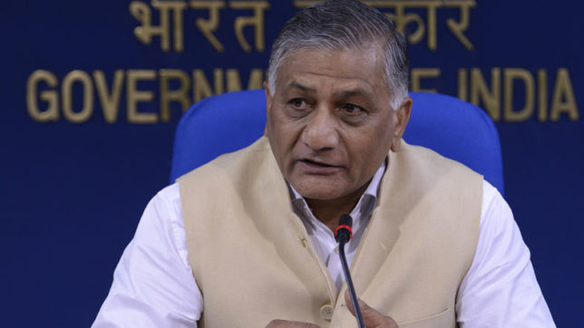VK Singh confirms Minister barred from visiting China