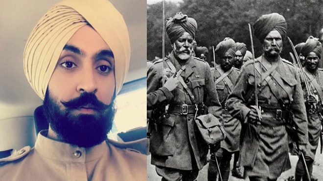 Diljit Dosanjh changes his looks for his upcoming movie based on World War 1