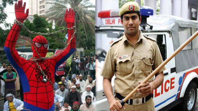 Delhi police trap burglar 'Spiderman' in their web