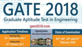 GATE 2018: Process of online registration ends tomorrow @ gate.iitg.ac.in