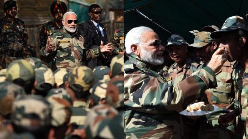 PM Modi celebrates Diwali with troops at LoC; promises betterment of Army