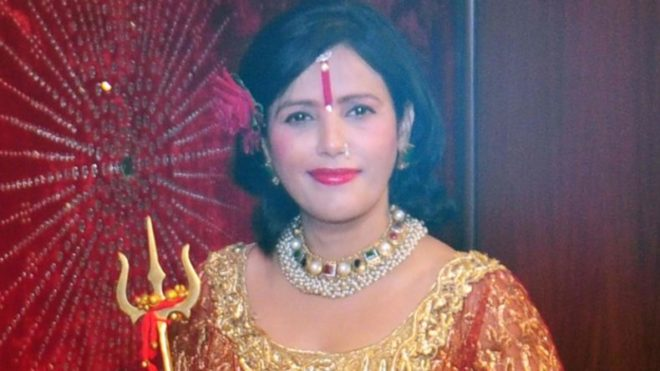 Radhe Maa sits on SHO's chair in Delhi; case registered for mocking the law
