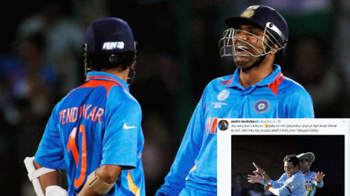 Sachin Tendulkar's ulta message,Yuvraj's dig at Nehraji; Twitter wishes Virender Sehwag on his 39th birthday