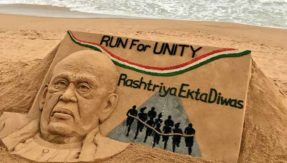 Padma Shri sand artist Sudarsan Pattnaik's great tribute to Sardar Vallabhbhai Patel