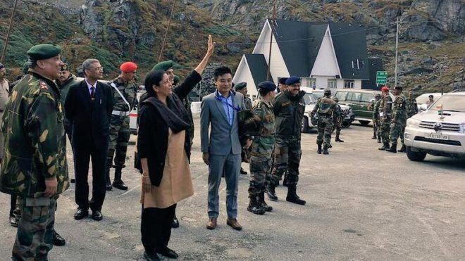 Watch! Defence Minister Nirmala Sitharaman interacting with Chinese troops at Nathu La
