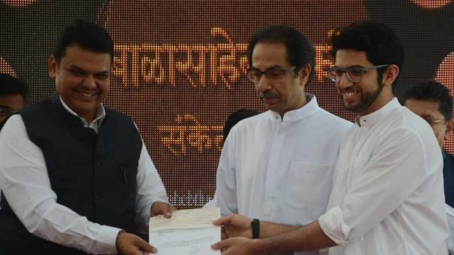 Maharashtra CM Fadnavis dedicates proposed site for Bal Thackeray memorial