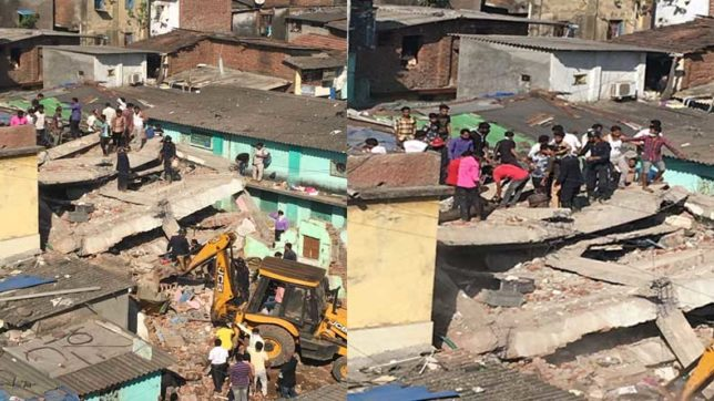 Mumbai: At least 1 dead, 3 injured after 3-storey building collapses in Bhiwandi