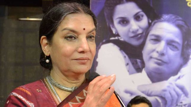 Shabana Azmi calls for IFFI boycott after anti-Padmavati protests