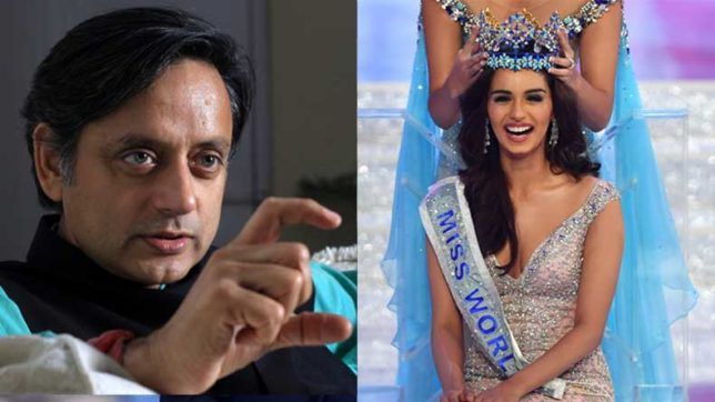 Shashi Tharoor draws flak for calling Miss World Manushi as 'chillar'