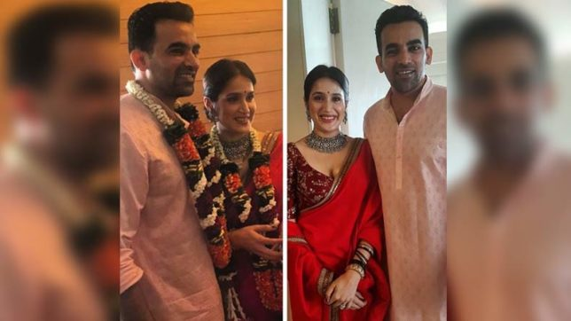 First pics of Zaheer Khan-Sagarika Ghatge getting hitched out! Couple looks adorable!