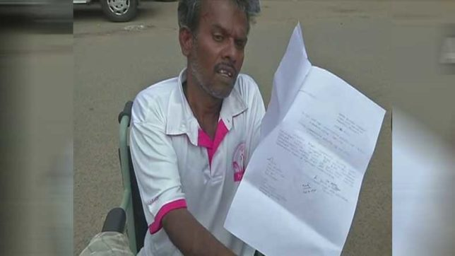 Tamil Nadu: Devoid of medical facilities after being paralysed, man pleads euthanasia