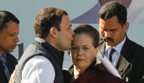 A kiss on mother's forehead: Rahul Gandhi bids perfect farewell to Sonia