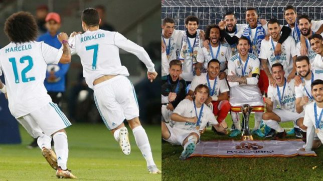 FIFA Club World Cup: Ronaldo's stunning free-kick helps Real Madrid win fifth trophy in calendar year for first time