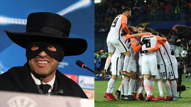 UEFA Champions League: Loyal Paulo Fonseca celebrates Shakhtar Donetsk's victory over Manchester City in Zorro outfit