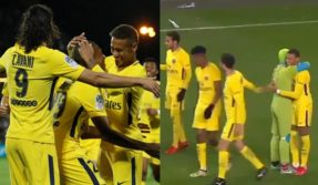 When-Teenage-Mutant-Ninja-Turtles-visited-PSG-stars-Neymar,-Mbappe-and-Cavani-on-pitch