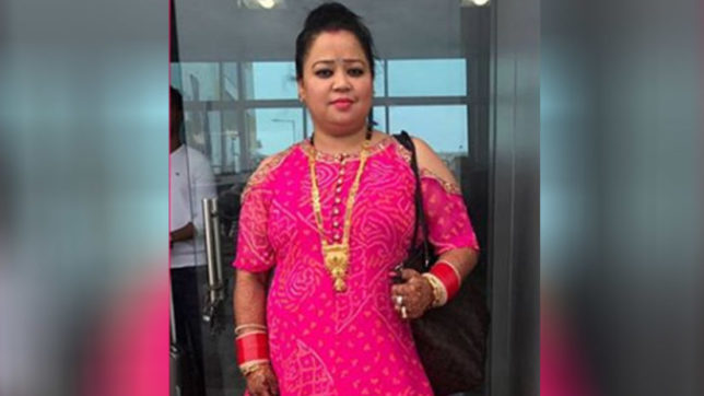 Newly-wed Bharti Singh returns to Mumbai; shines in a pink gown