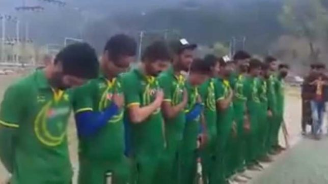Four cricketers arrested for 'respecting' Pakistan national anthem