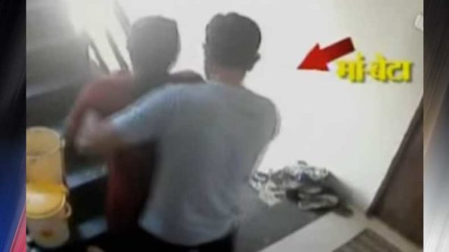 Caught on camera: Son throws ailing mother off terrace