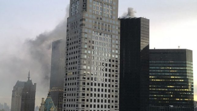 Fire tackled on top floor of Trump Tower in New York City