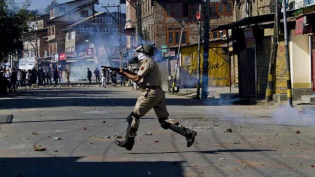 Protesters clash with security forces in Kashmir Valley