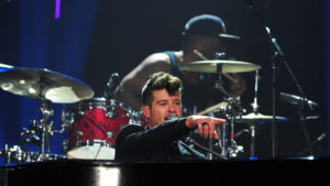 Robin Thicke, Love Geary, US, Los Angeles,