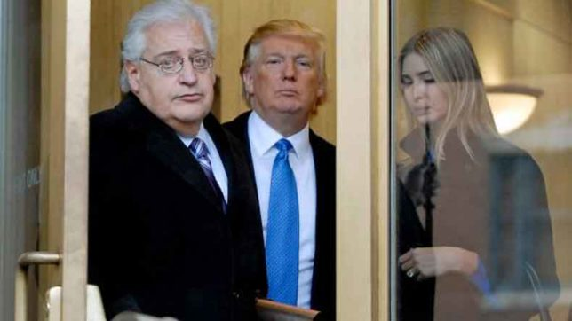 US President Donald Trump's Israel envoy pick brags of removing two-state solution
