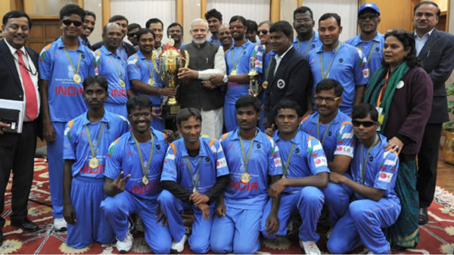 World-Cup-winning-National-blind-cricket-team-meets-PM-Modi