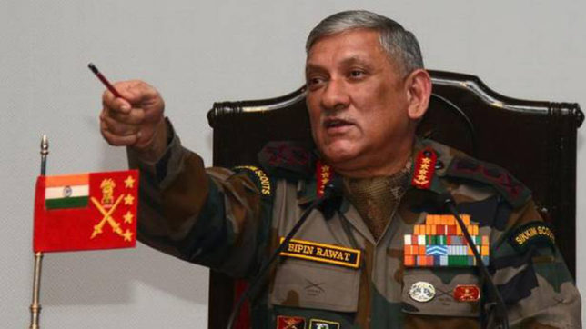 We won't spare 'anti-nationals' displaying Pak, IS flags: Army Chief General Bipin Rawat