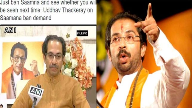 Just ban 'Saamna' and see whether you will be seen next time: Uddhav Thackeray's dare to BJP