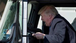 Donald Trump, US president, White House, President Trump, POTUS, American trucker, Donald Trump truck, American Health Care Act, Obamacare,