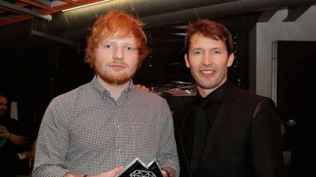 Singer James Blunt says Ed Sheeran made him feel uncomfortable while writing songs