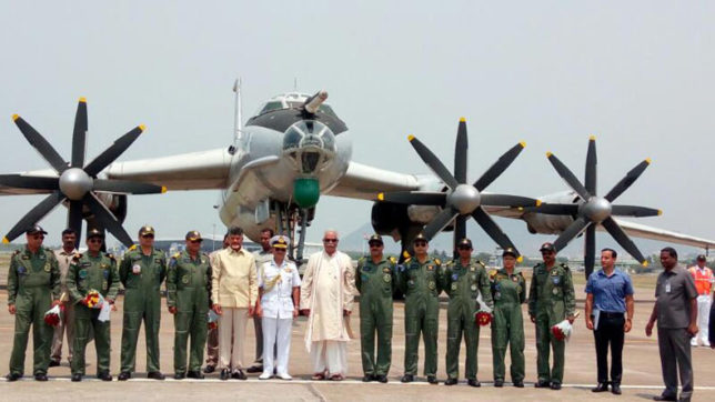 TU-142M arrives at Vizag, to be converted into a museum