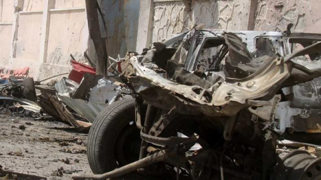 Car-explosion-in-Khost,-Afghanistan