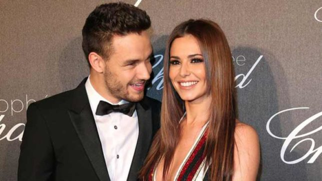 Cheryl teaching Liam Payne how to dance