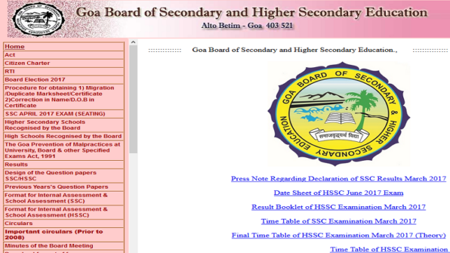 Goa board  SSC 10th result 2017 declared @ gbshse.gov.in, schools9