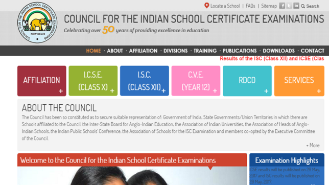 ICSE class 10 & ISC class 12 board results 2017 to be declared today