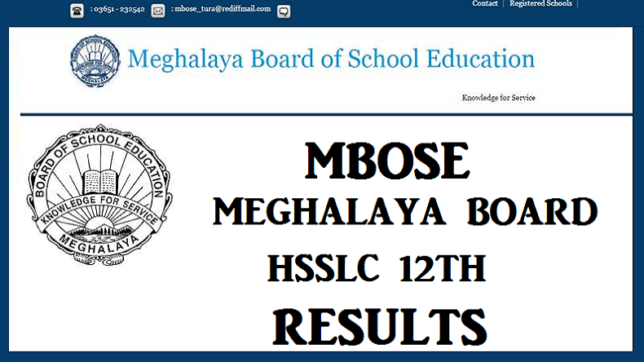 MBOSE HSSLC Results 2017: Meghalaya Class 12 result declared @ Mbose.in & megresults.nic.in