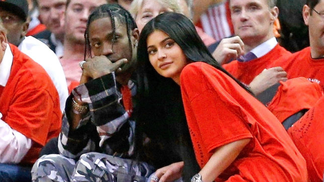Reality TV star Kylie Jenner and rapper Travis Scott get intimat